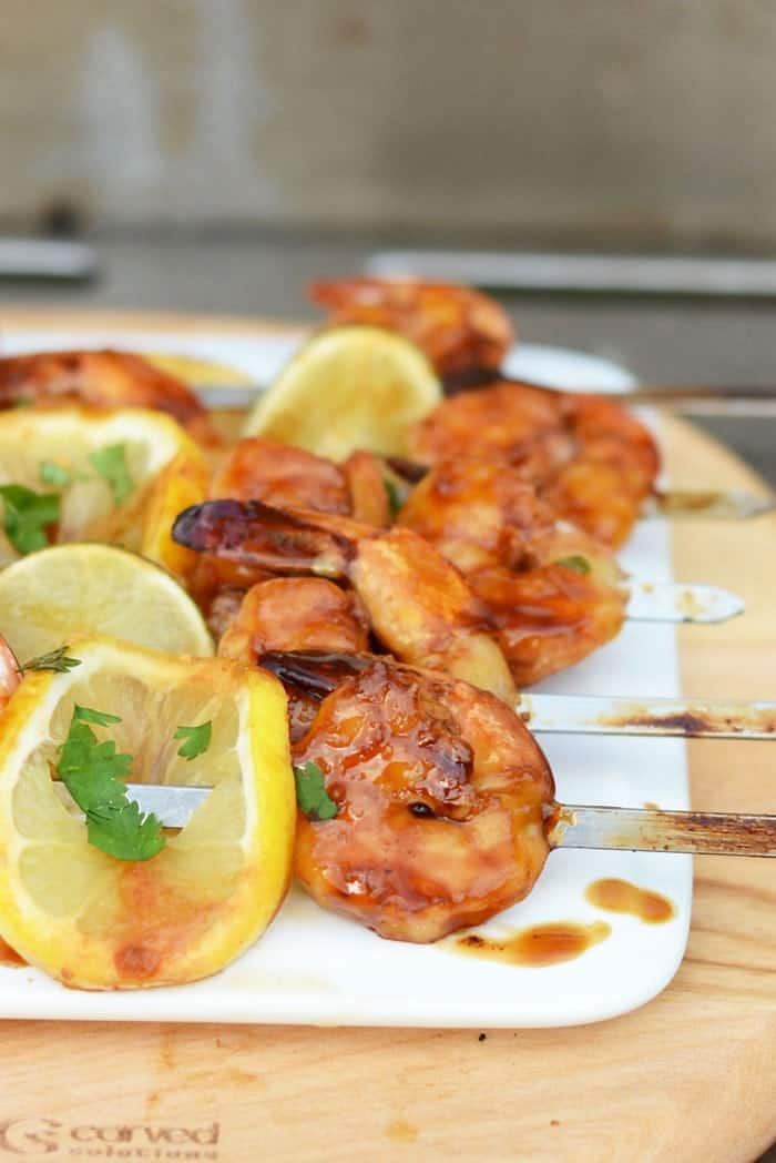 Lemon Lime Asian Shrimp Kebabs- the perfect summer app!