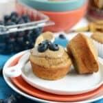 Almond Butter Banana Bread Muffins