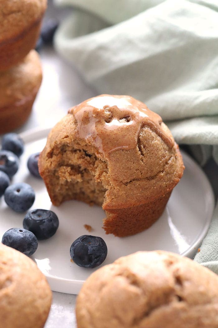 Almond Butter Banana Bread Muffins Fit Foodie Finds