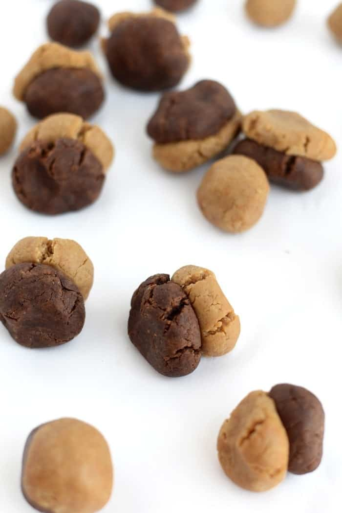 Brownie Cookie Dough Swirl Protein Balls | FitFoodieFinds.com