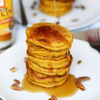 Silver Dollar Pumpkin Crunch Pancakes