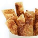 Cinnamon Sugar Crunchy Munchies- a delicious 120 calorie gluten-free snack!