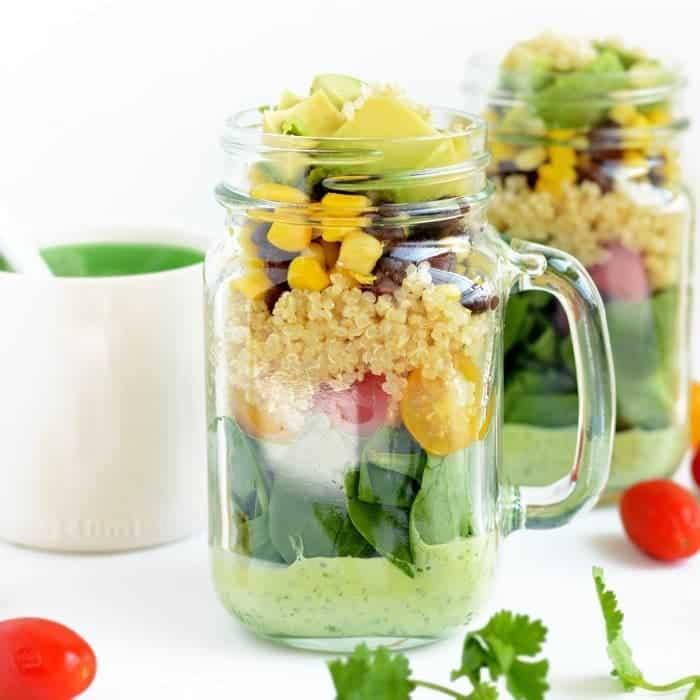 Tex Mex Quinoa Mason Jar Salad