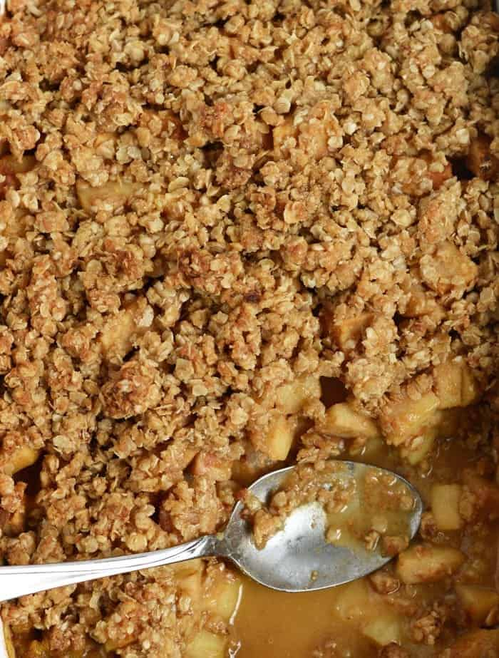 Gluten-Free Apple Plum Crisp #fall #glutenfree