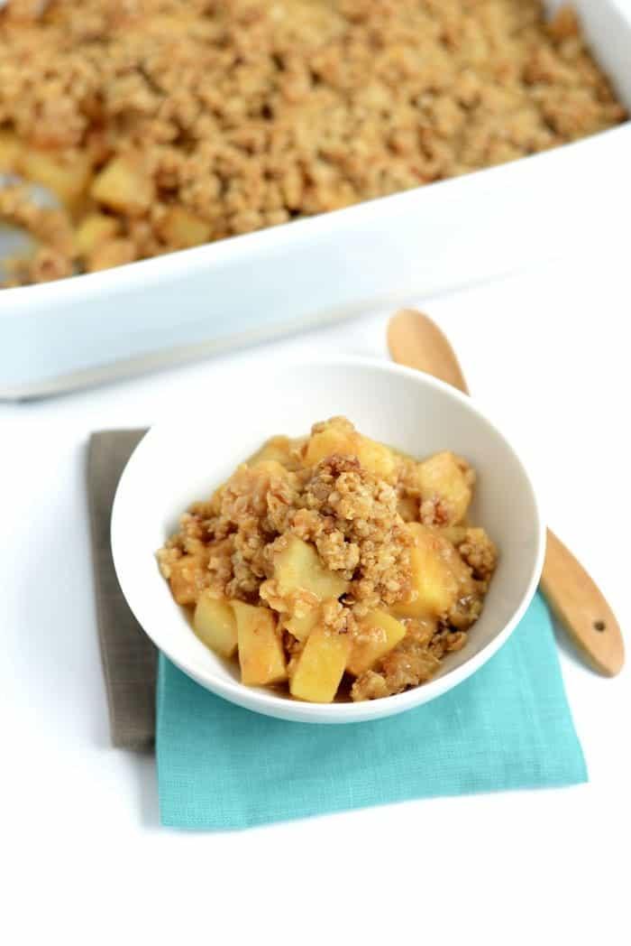 Gluten-Free Apple Plum Crisp #fall #glutenfree