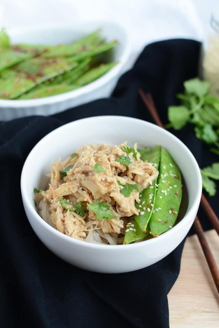 Crock-Pot Asian Chicken with Stir Fried Sesame Pea Pods #crockpot # ...