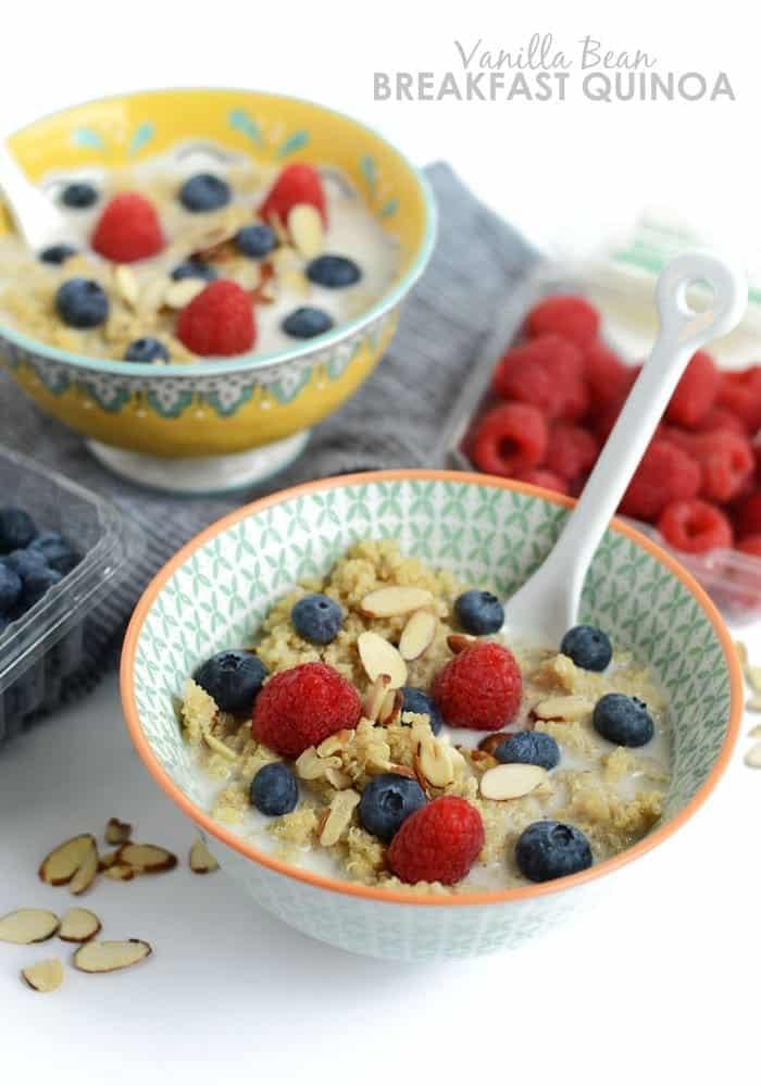 Vanilla Bean Breakfast Quinoa - from the 15-minute Quinoa Breakfast RecipesRoundup!