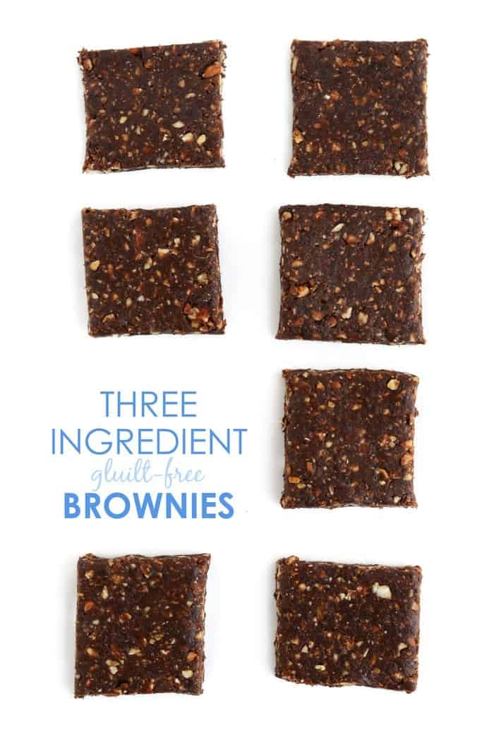 3-Ingredient Guilt-Free Brownies #glutenfree #vegan