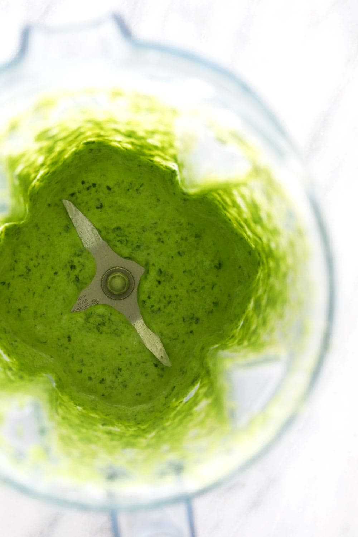 Blended Spinach in a blender!