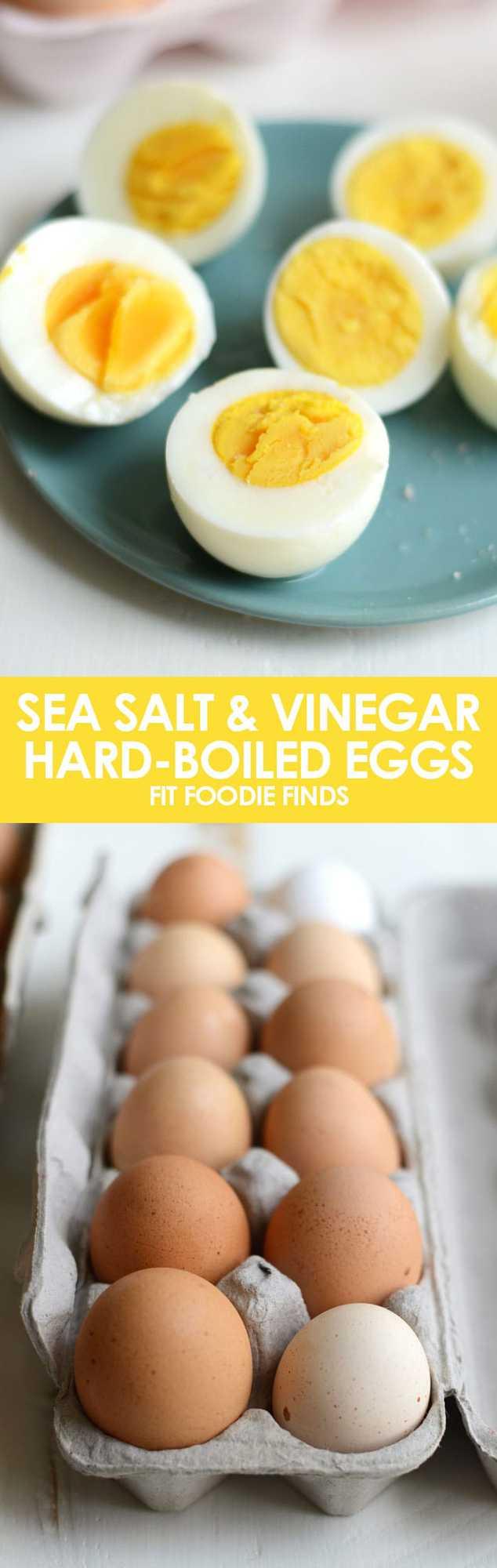 Sea Salt and Vinegar Hard-Boiled Eggs #healthy #recipe