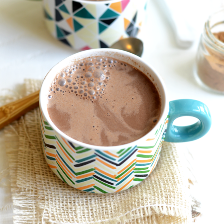 Vegan Chai Hot Chocolate- just 78 calories per serving!