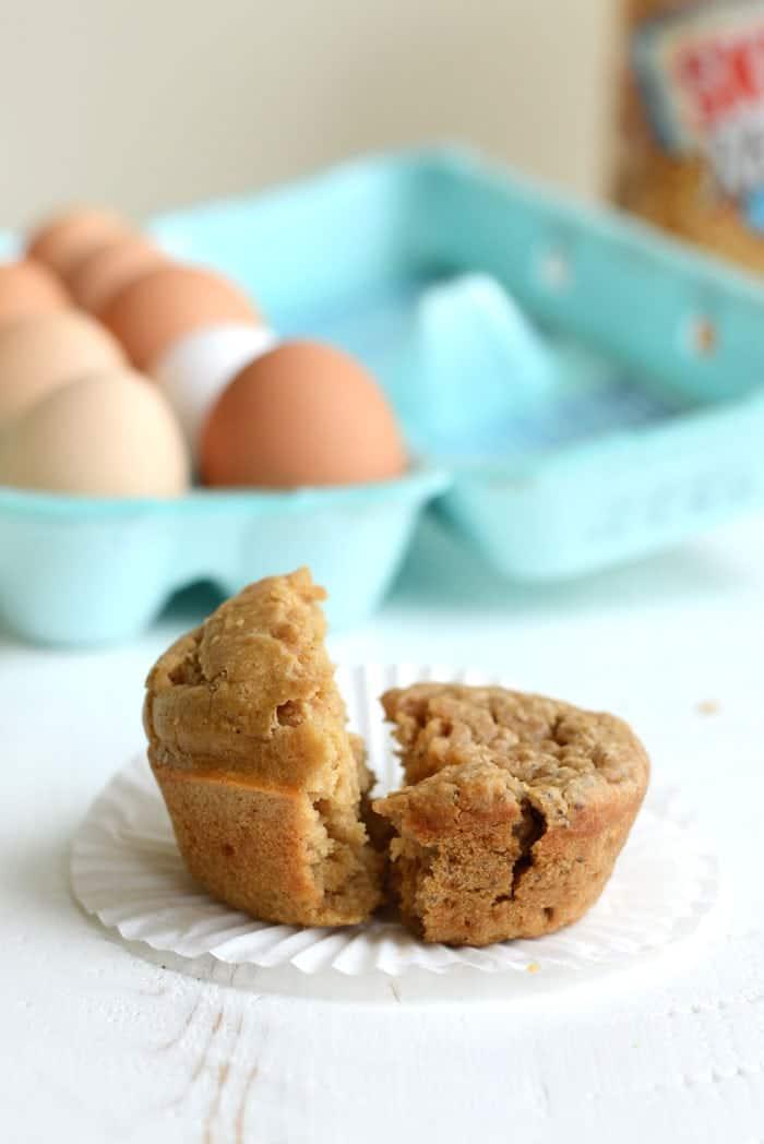 Single-Serve Peanut Butter Muffin 2 Ways #glutenfree #vegan #recipe