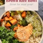 vegetarian brown rice bowl