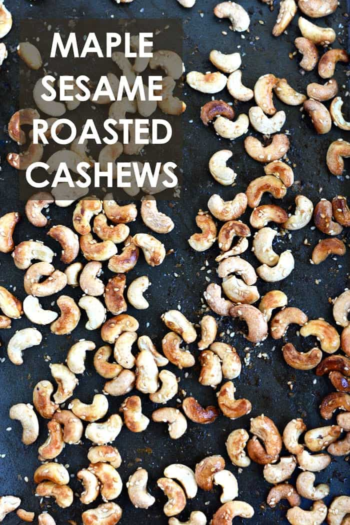 Maple Sesame Roasted Cashews- the best tasting nuts ever!