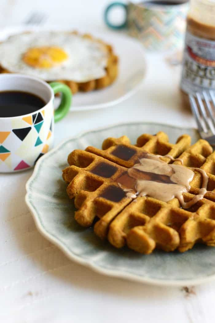 The Best Ever Gluten-Free Ever Pumpkin Waffles #glutenfree #recipe