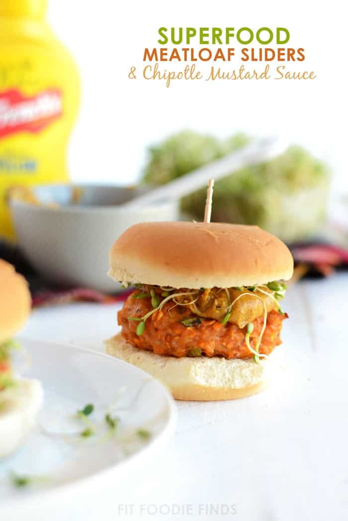 Superfood Meatloaf Sliders with Chipotle Mustard Sauce #FrenchsMixology