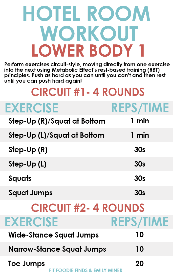 Lower Body Hotel Room Workout Bodyweight Only No Equipment Required