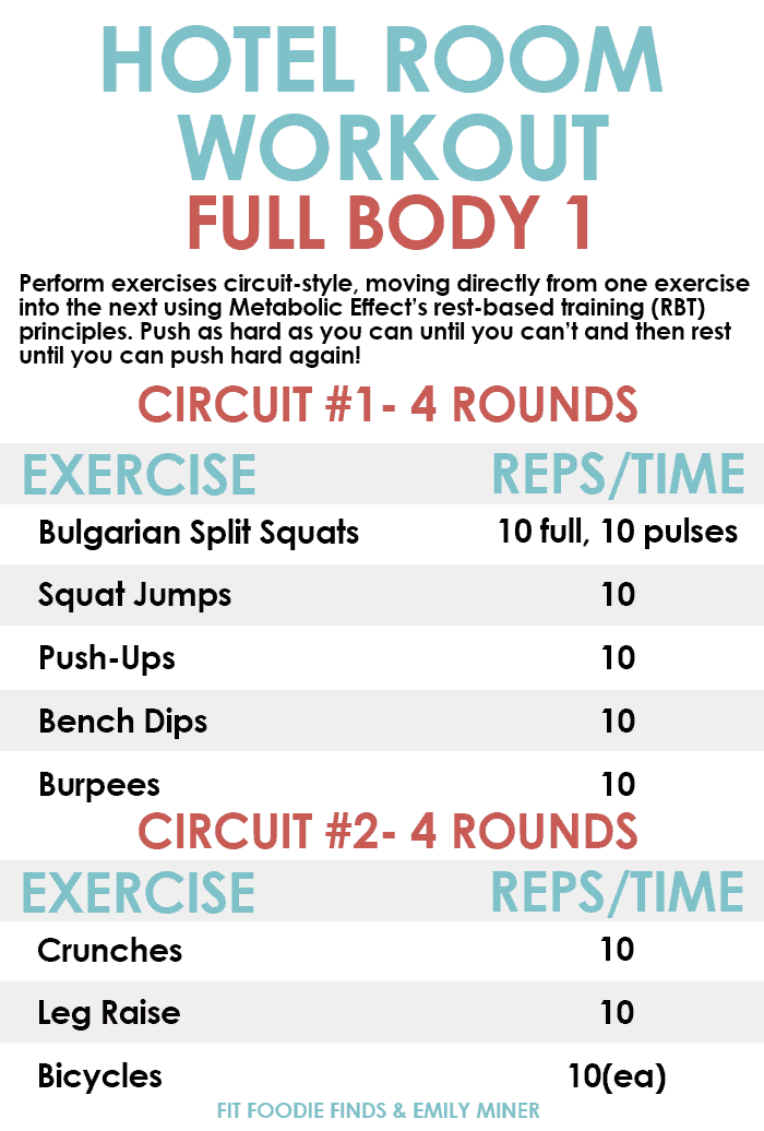 Body Weight Hotel Room Workout