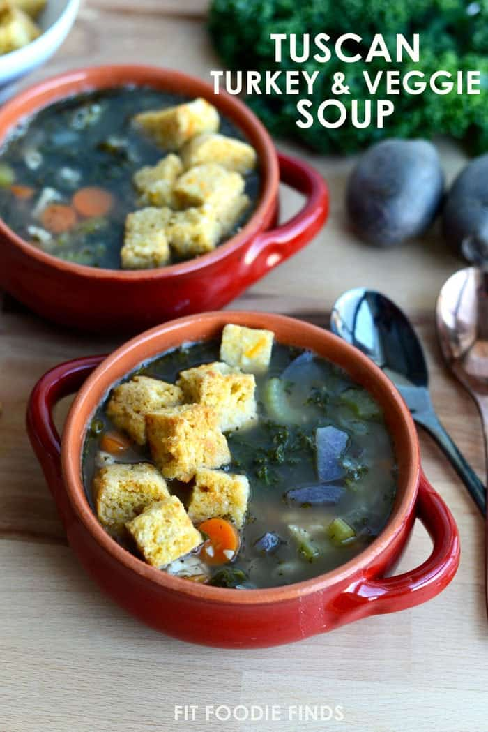Gluten-Free Tuscan Turkey and Vegetable Soup