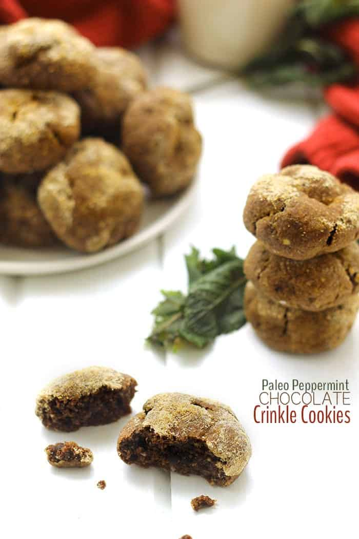 Paleo Peppermint Chocolat eCrinkle Cookies + 4 More Paleo Cookie Recipes