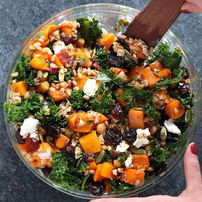 Butternut Squash Kale Salad