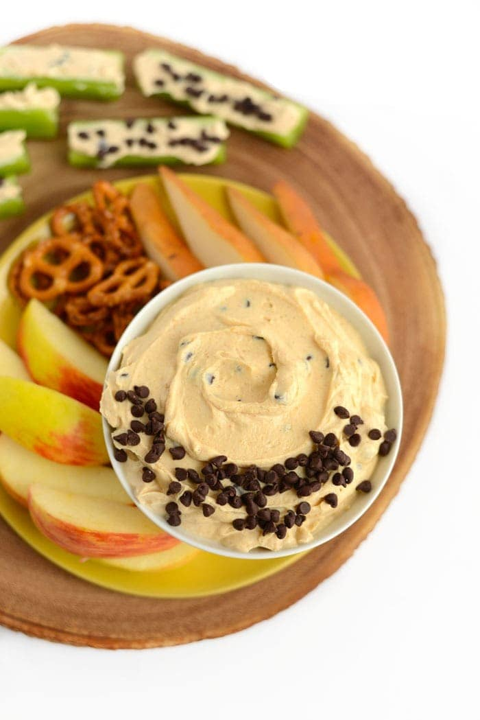 Peanut Butter Greek Yogurt Dip Kid Friendly Snack Fit Foodie Finds