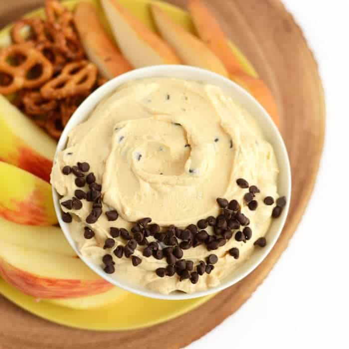 Healthy Peanut Butter Chocolate Chip Yogurt Dip