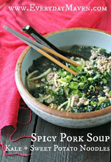 Spicy Pork Soup with Sweet Potato Noodles + More Spiralized Recipes