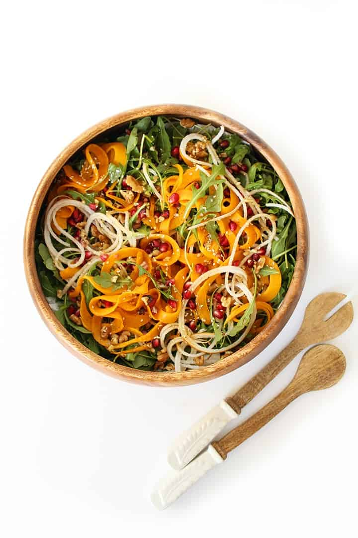 Pear Pomegranate and Roasted Butternut Squash Salad + More Spiralized Recipes