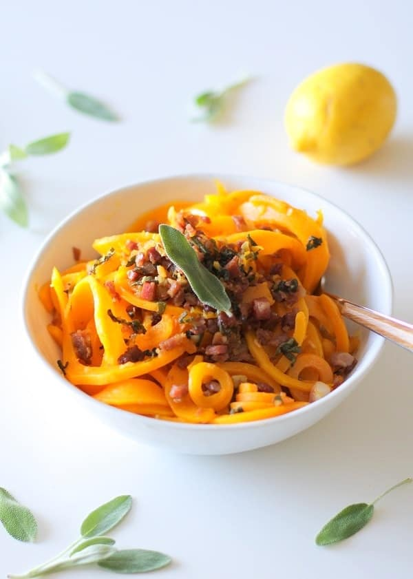 Butternut Squash and Prosciutto Pasta + More Spiralized Recipes
