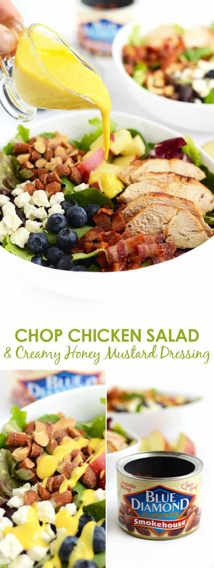 Chicken Chopped Salad with Homemade Honey Mustard Dressing