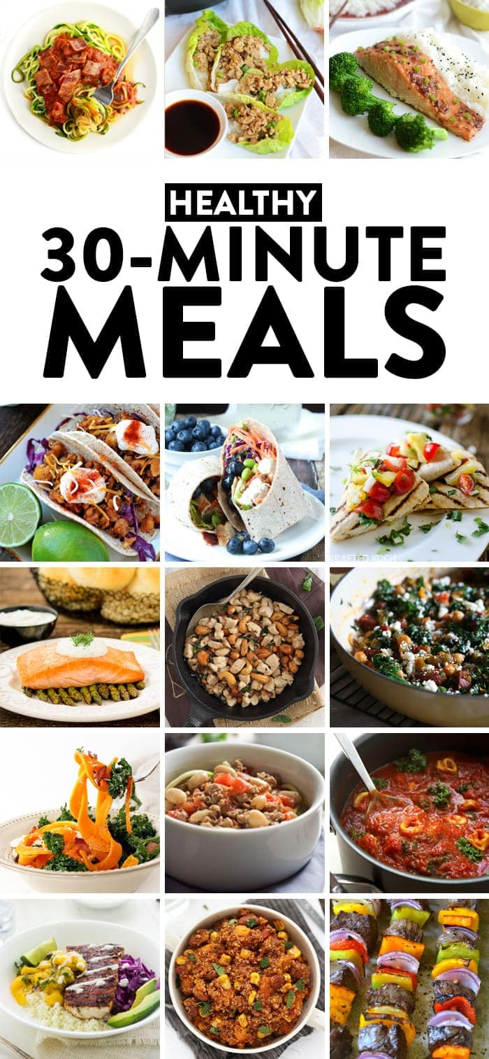 Healthy 30 minute meals fit foodie finds from meat filled to vegan this recipe round up is filled with tons of different healthy 30 minute meal ideas that are easy to integrate into your weekly sisterspd
