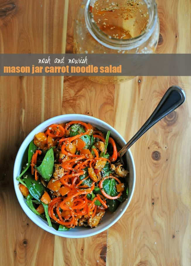 Mason Jar Carrot Noodle Salad + More Spiralized Recipes