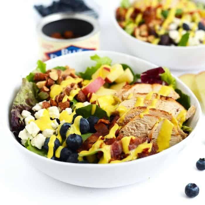 Chicken Chopped Salad With Creamy Honey Mustard Dressing