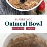 superfood oatmeal bowl