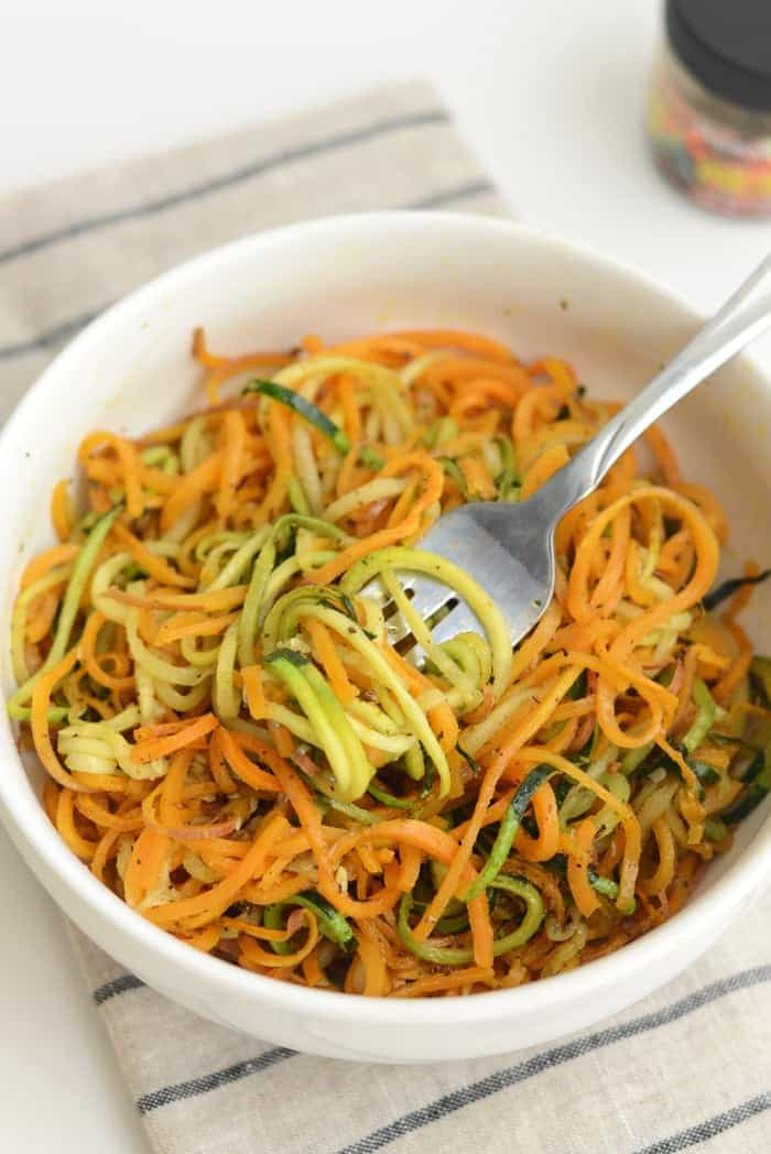 Roasted Easy, Herby Spiralized Vegetables + More Spiralized Recipes