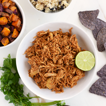 Clean Eating Crock-Pot Chicken Taco Bowls