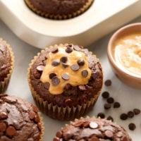 chocolate pb muffins