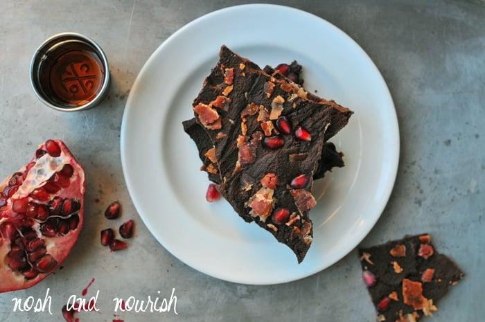 Dark Chocolate Bourbon Bacon Bark + More Paleo Desserts