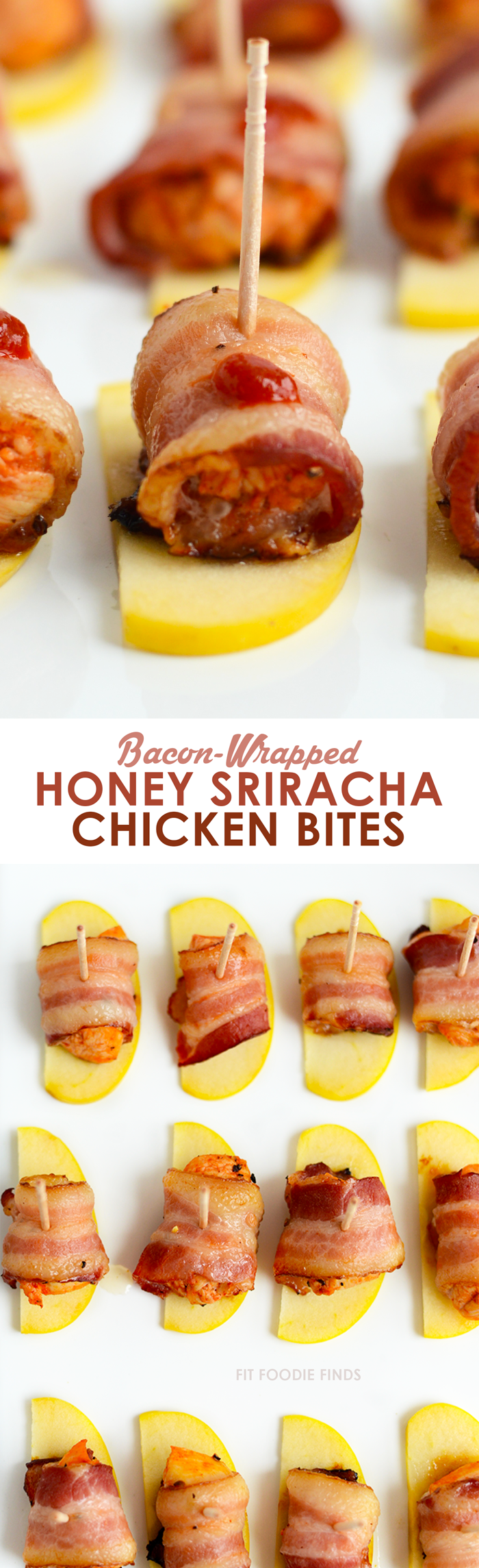 Bacon-Wrapped Honey Sriracha Chicken Bites