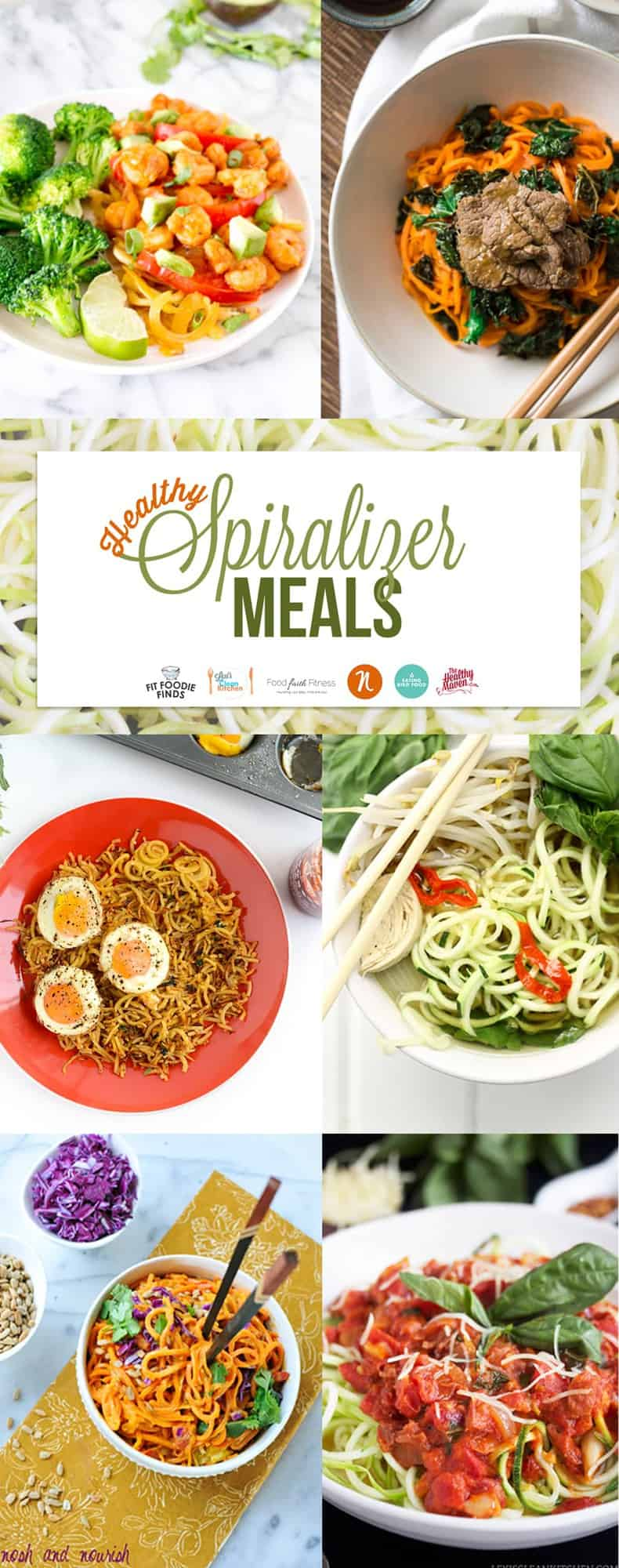 Healthy Spiralizer Meals - paleo friendly!