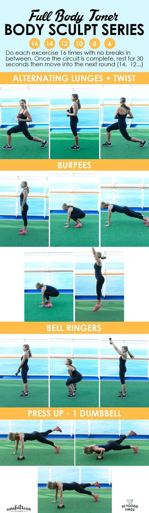 Got a dumb bell? Do this Full Body Toner Workout that'll work your entire body!