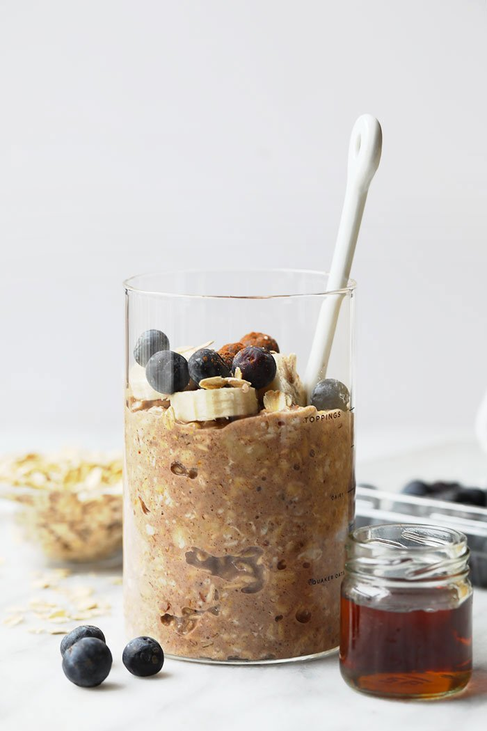 Maple French Toast Overnight Oats in Jar