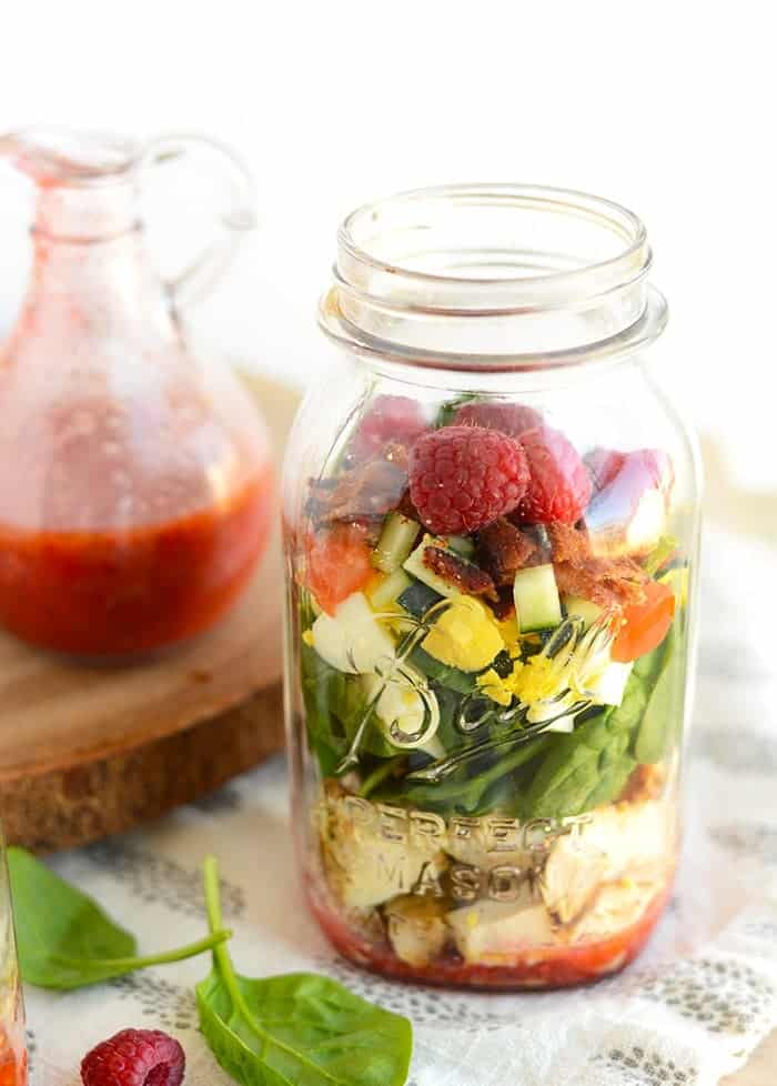 Spring Cobb Salad in a jar