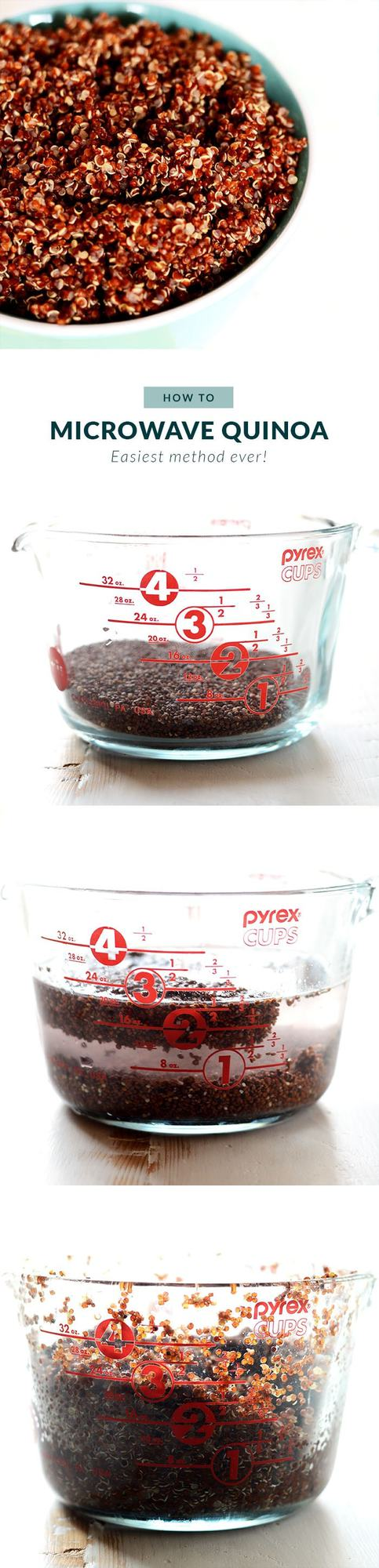 microwave quinoa step by step