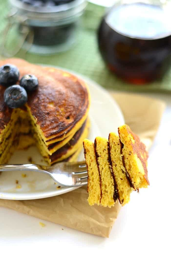 Forkful of Coconut Flour Pancakes {Paleo}