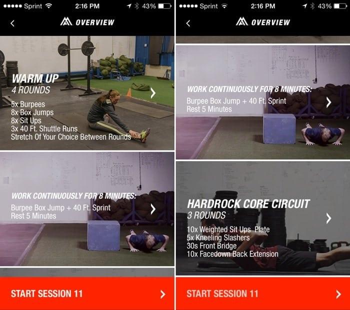 The Northface Mountain Athletics App