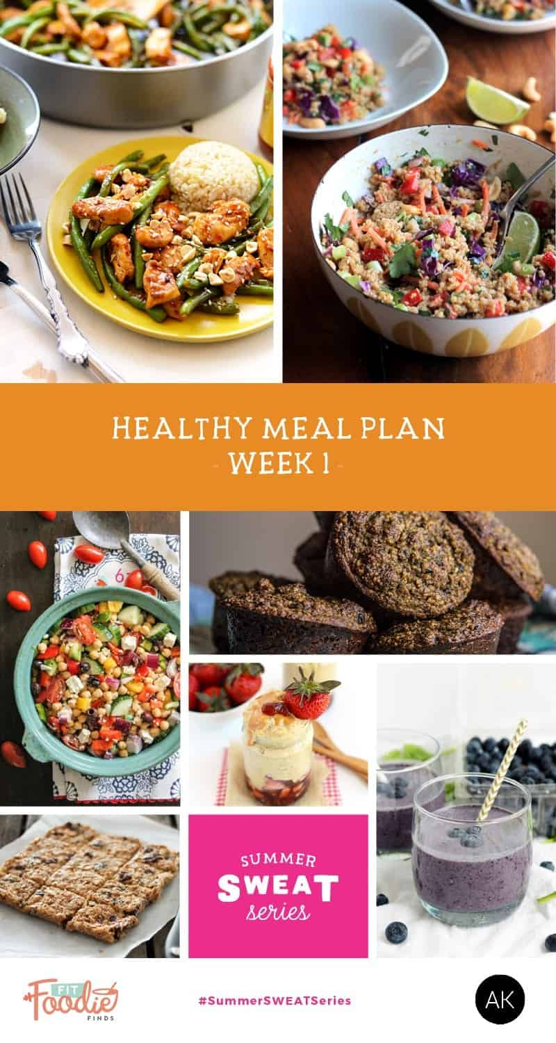 Healthy Meal Plan + Grocery List - Summer SWEAT Series | Week 1