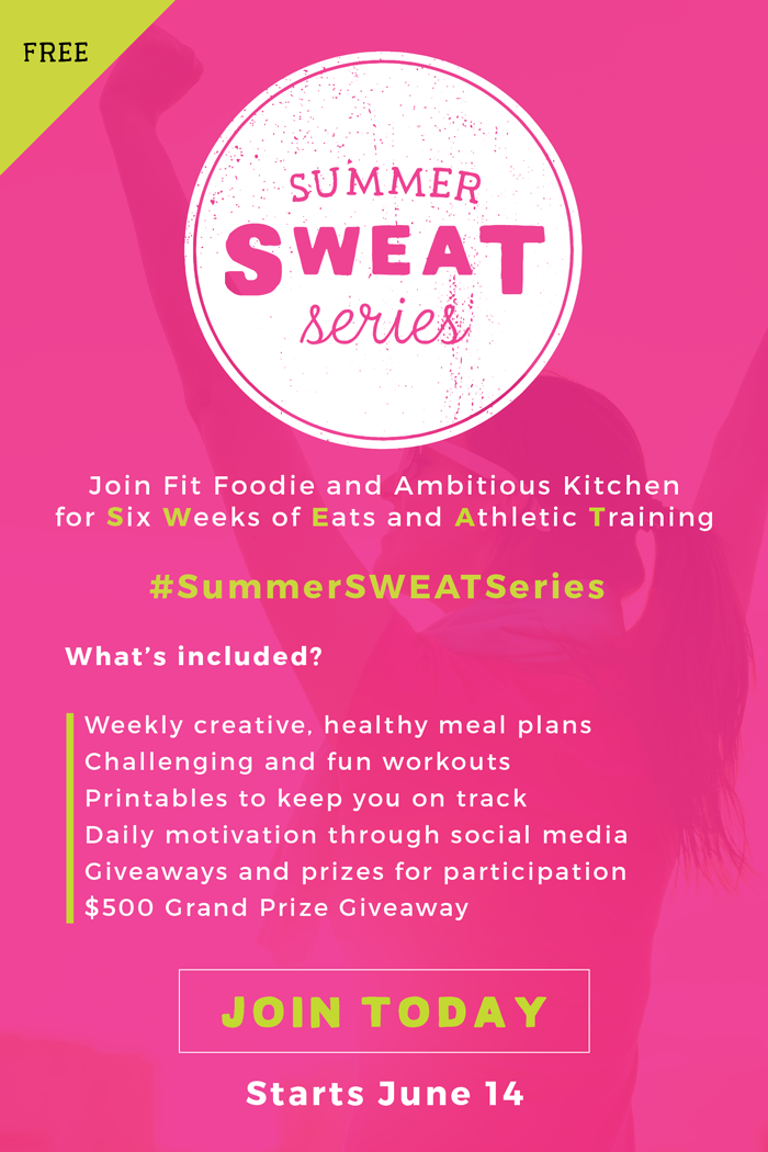 Join Fit Foodie Finds and Ambitious Kitchen for a 6 week nutrition and fitness program fully equipped with meal plans and workouts to help you shred fat and build muscle!