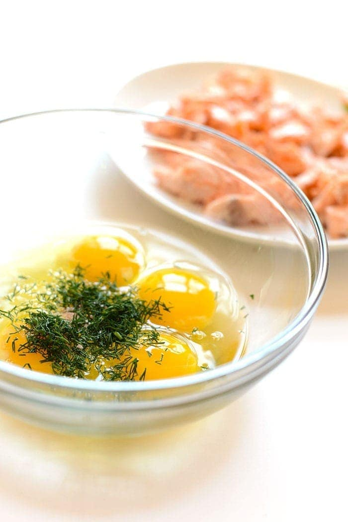 eggs and dill in bowl